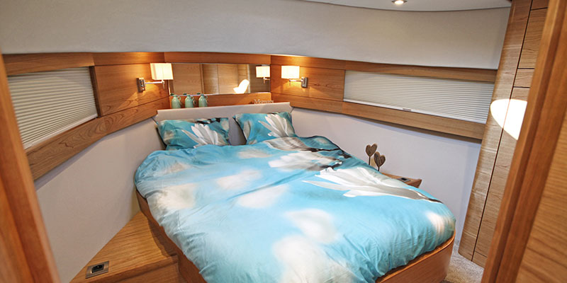 Spacious and luxurious owner's cabin