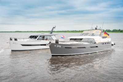 Super Lauwersmeer boat show at the shipyard