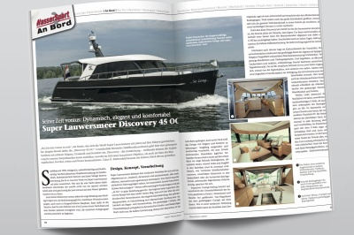 """""""Zijn tijd vooruit"""": Wassersport over de Discovery 45 OC"""