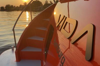 Wellness aan boord van Discovery 47 AC 'VIDA'